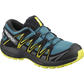 Salomon XA Pro 3D CSWP Shoes Kids lyons blue/black/sulphur spring